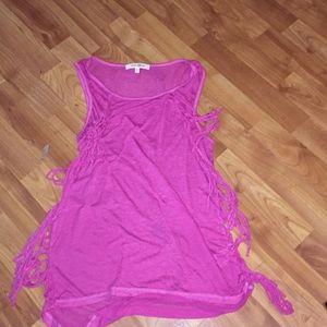 Pink tank top shirt